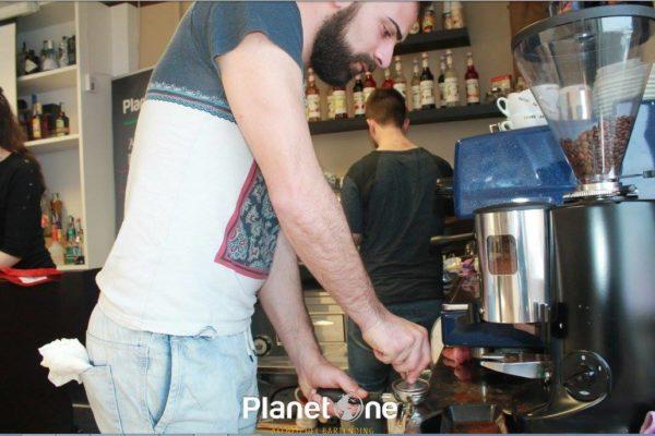pressione del caffe
