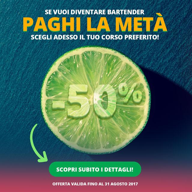 Corso Barman Roma scontato -50%